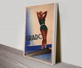 Grado Art Deco Poster Canvas Print Australia