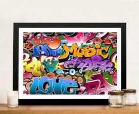 Graffiti Pop art Framed Picture