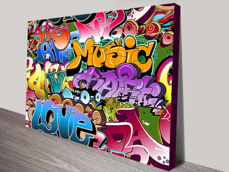 Graffiti Pop art Canvas Print Graffiti Pop At Framed Picture Framed Print Australia & Graffiti Pop At Framed Picture Framed Print Australia