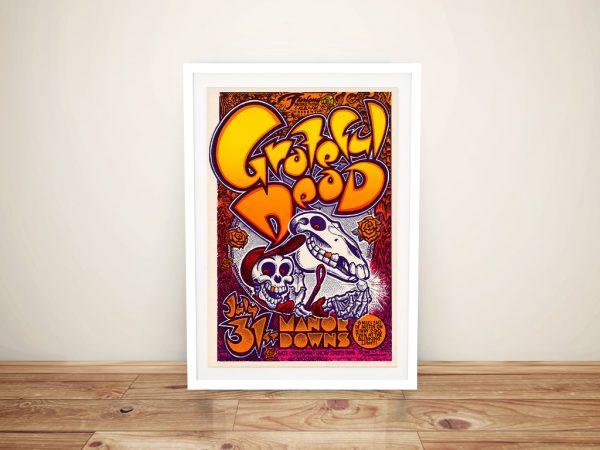 Grateful Dead Poster Framed Wall Art