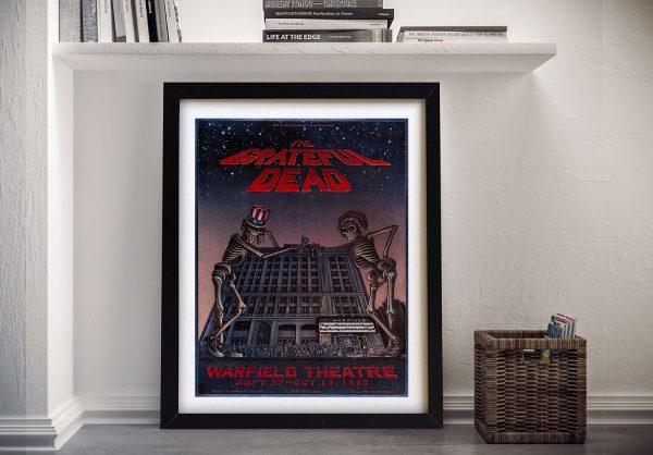 Buy The Grateful Dead Warfield Theatre Framed Wall Art