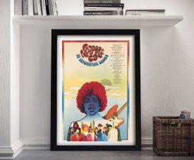 Hendrix Newport Festival Vintage Poster Print