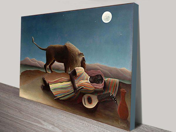 The Sleeping Gypsy by Henri Rousseau Art Print