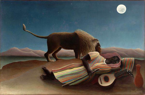 The Sleeping Gypsy by Henri Rousseau Canvas Art Print