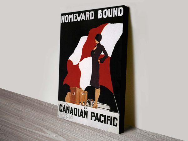 Homeward Bound Vintage Poster Canvas Print
