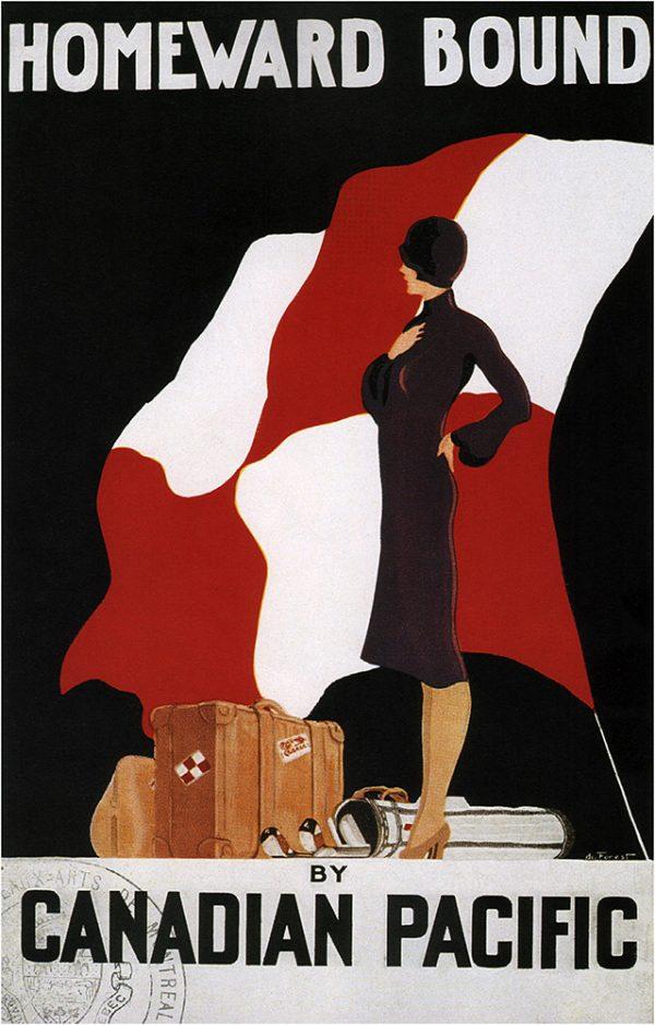 Homeward Bound Vintage Travel Poster Art