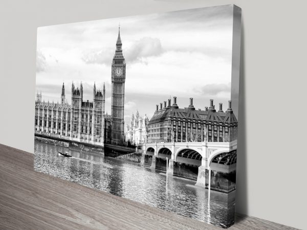 Houses of Parliament London Artwork on Canvas