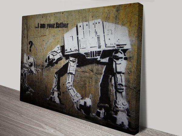 Banksy Star Wars Canvas Print