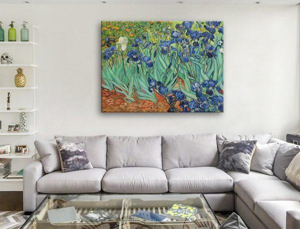 Irises by Vincent Van Gogh Canvas Artwork