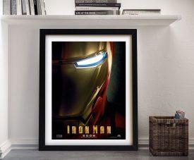 Iron Man Movie Poster Framed Wall Art