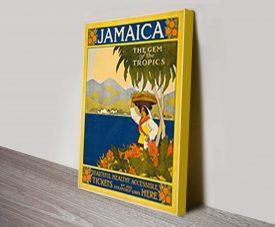 Jamaica Thomas Cook Vintage Travel Poster Wall Art
