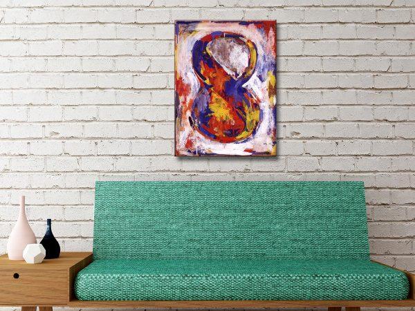 Jasper Johns Figure Eight Canvas Artwork Australia