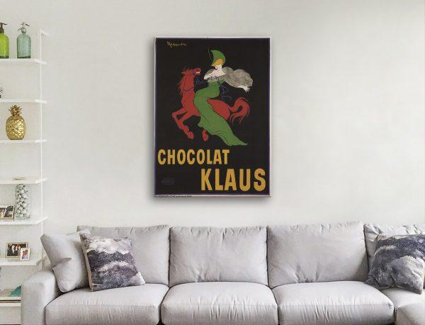 Klaus Chocolate Canvas Poster