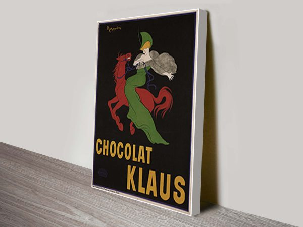 Klaus Chocolate Vintage Advertising Poster
