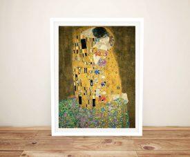 The Kiss Framed Gustav Klimt Classical Artwork