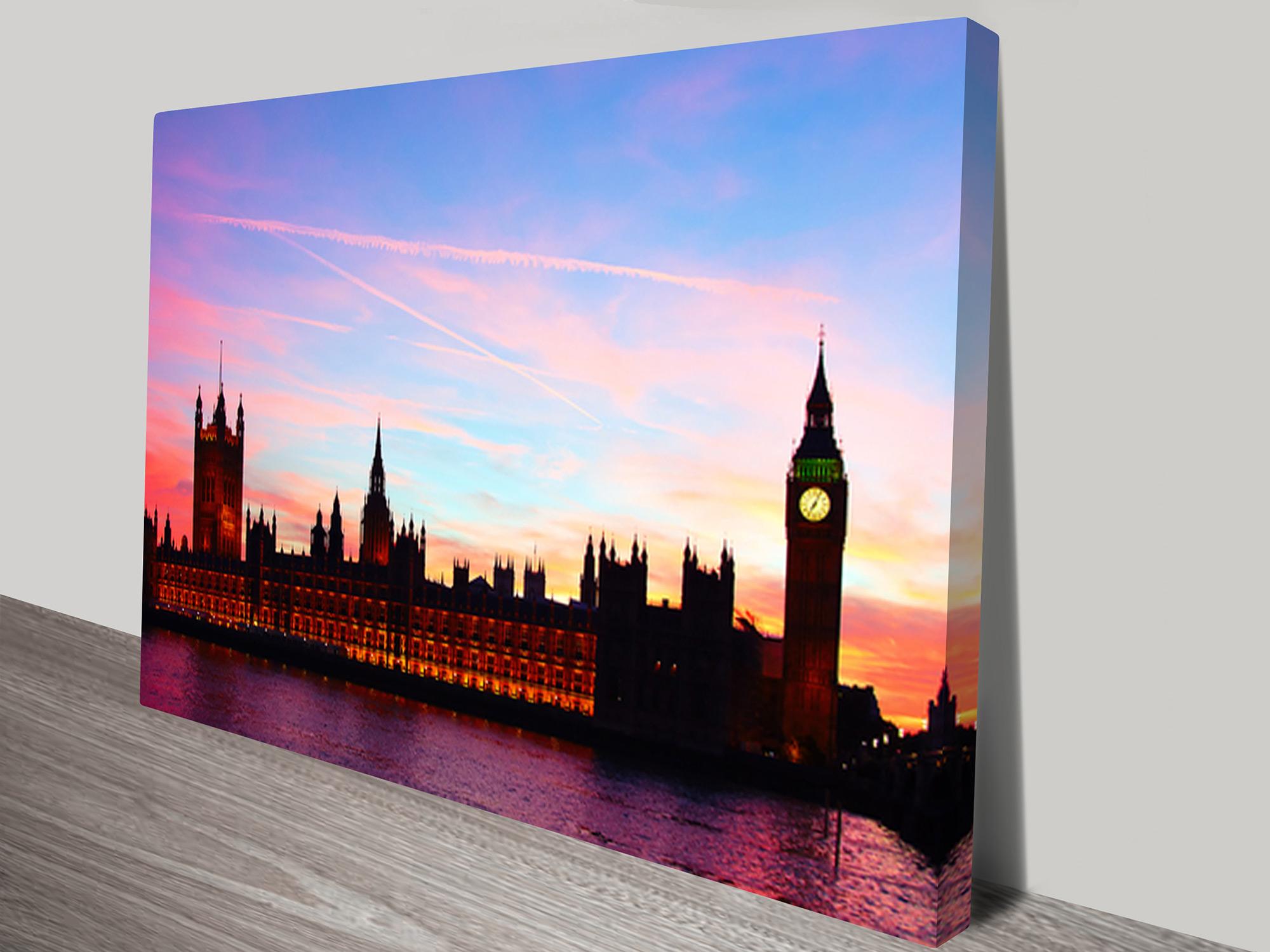 London Big Ben Artwork On Canvas