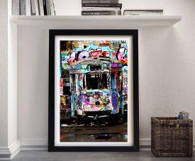 Lonesome Tram Framed Wall Art