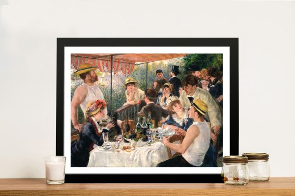 Luncheon at the boating-party by Renoir Framed Wall Art
