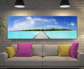 Maldives Paradise Canvas Artwork