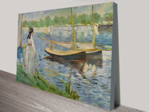 His Embankment at Argenteuil by Edouard Manet Canvas Wall Prints