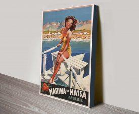 Marina di Massa Filippo Romoli Canvas Print