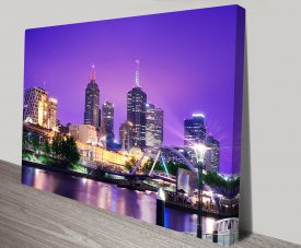 Melbourne Cityscape Artwork on Canvas