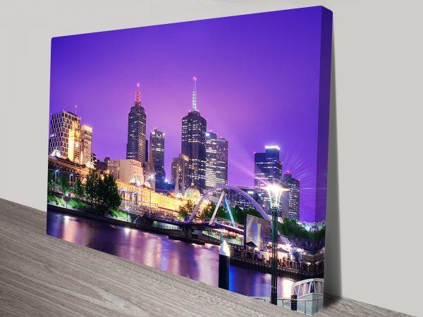 Melbourne Cityscape Artwork on Canvas