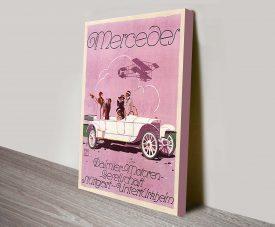 Mercedes Vintage Poster Canvas Print Australia
