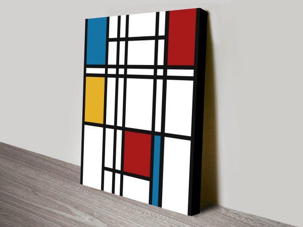 Mondrian Art Canvas Print Australia