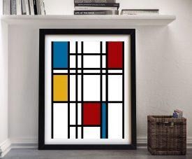 Piet Mondrian Framed Art Print Online Gallery Sydney Australia