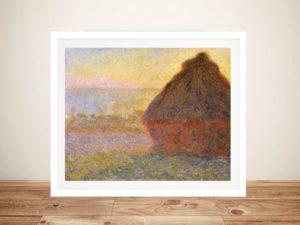 Monet Grainstacks Framed Wall Art