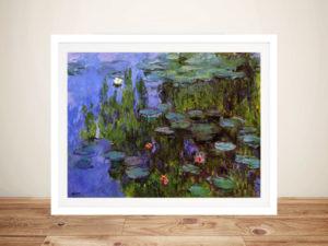 Monet Sea Roses Framed Wall Art