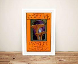 Mushroom Man Poster Framed Wall Art