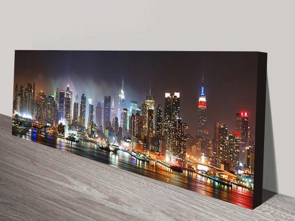 New York Skyline panoramic art