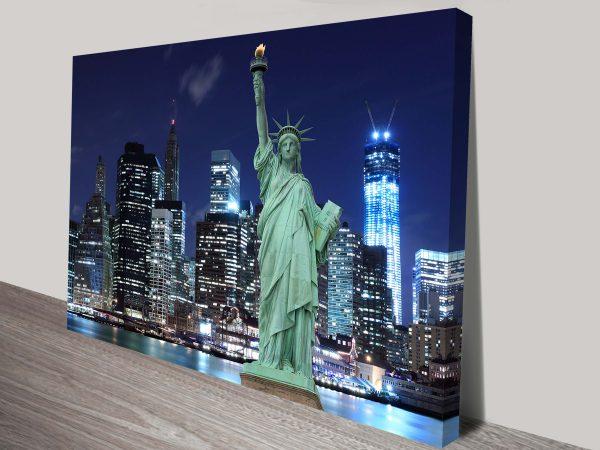 New York Wall Art Print on Canvas