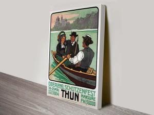 Oberland Shooting Festival-1914 Vintage Poster Canvas Art Print