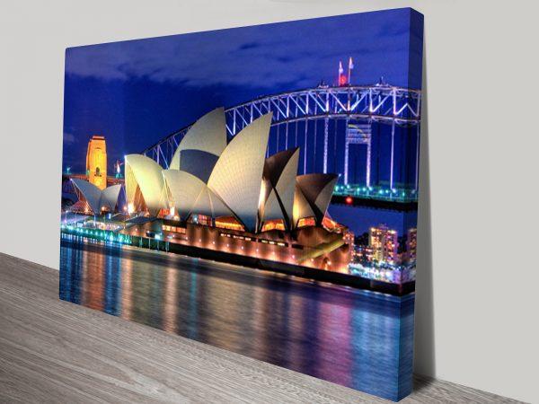 Opera House Canvas Art Print Australia