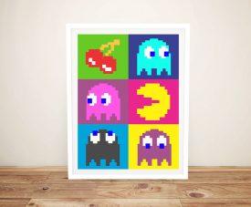 Framed Warhol Style Pacman Wall Art