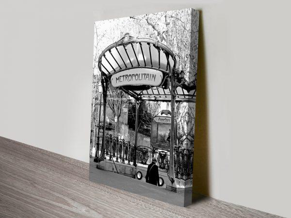 Paris Metropolitan Black and White Canvas Art