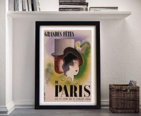 Buy a Framed Canvas Paris Art Deco Poster