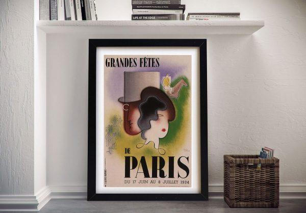 Buy a Framed Canvas Paris Art Deco Poster