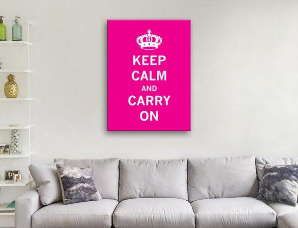 Ready to Hang Pink Keep Calm Artwork AU