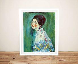 Portrait of a Lady Gustav Klimt Print
