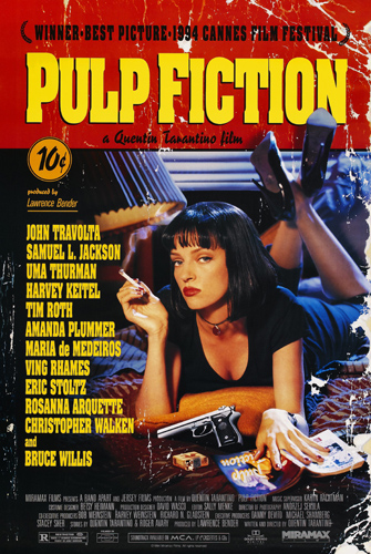 Pulp Fiction Movie Poster Canvas Print