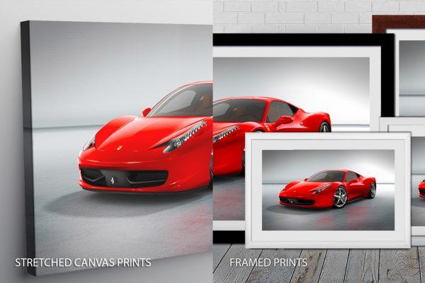 Red Ferrari Quality Art Print