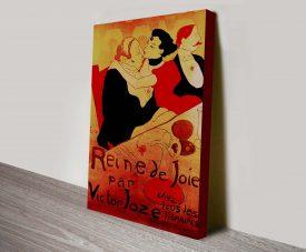 Reine de Joie Vintage Poster Print Art