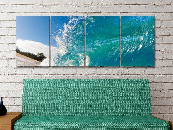 Surf 4 Panels Canvas Art