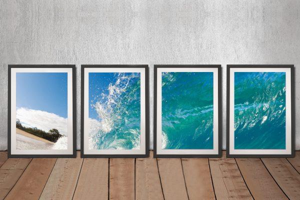 Waves 4 Piece Framed Art