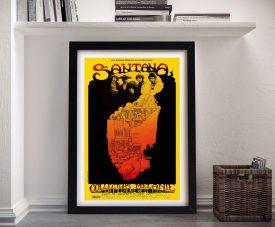 Buy a Framed Greg Irons Santana Concert Poster Print