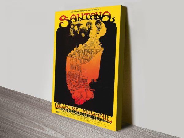 Buy a Santana Poster Print Unique Gift Ideas AU